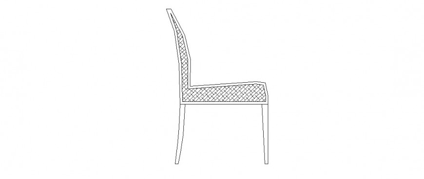 Simple chair side elevation block cad drawing details dwg file