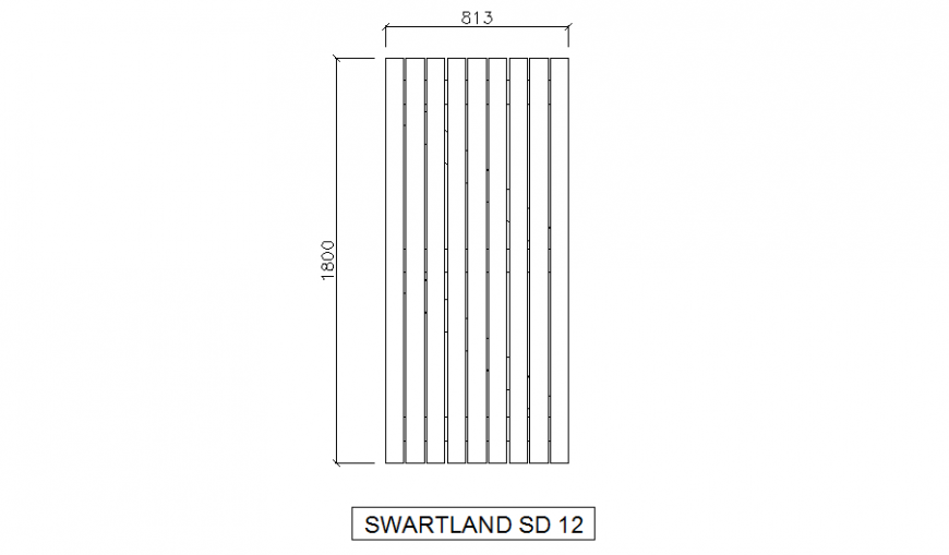 Simple door front elevation cad block drawing details dwg file