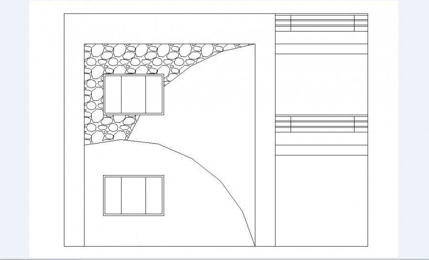 Simple house back elevation cad drawing details dwg file