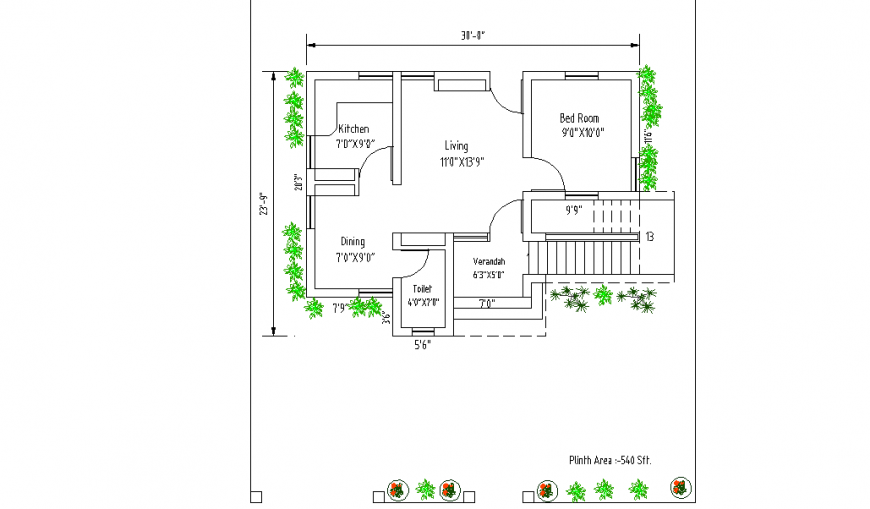 Simple House Design Drawing Detail