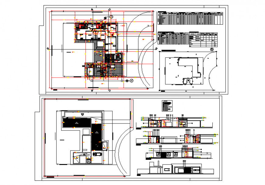 Simple House Plan & Section detail in DWG file