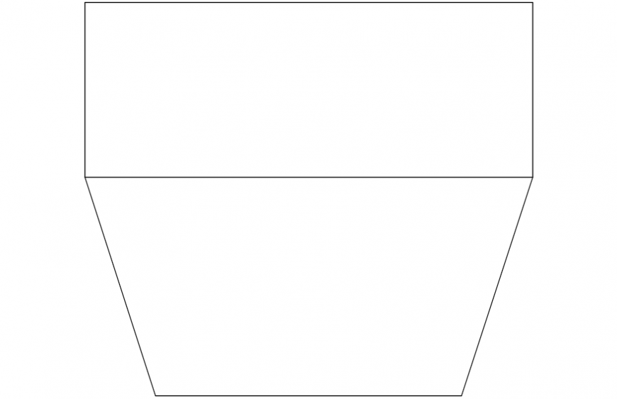 Simple old tv top view elevation block drawing details dwg file