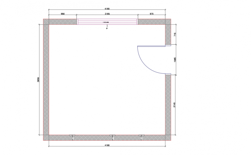 Simple room Plan LAy-out design in Autocad file