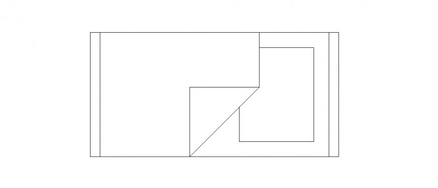 Simple single 2d bed elevation block drawing details dwg file