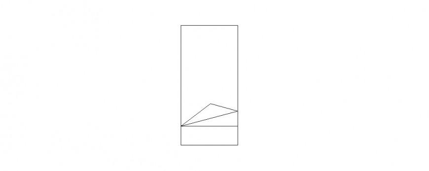Simple single bed elevation block drawing details dwg file