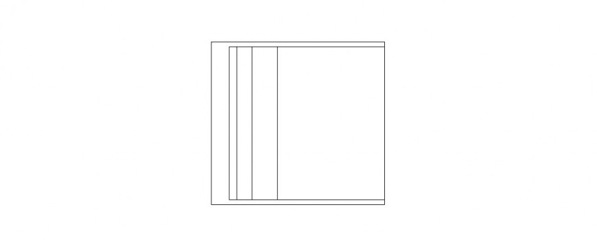 Simple square chair elevation block cad drawing details dwg file