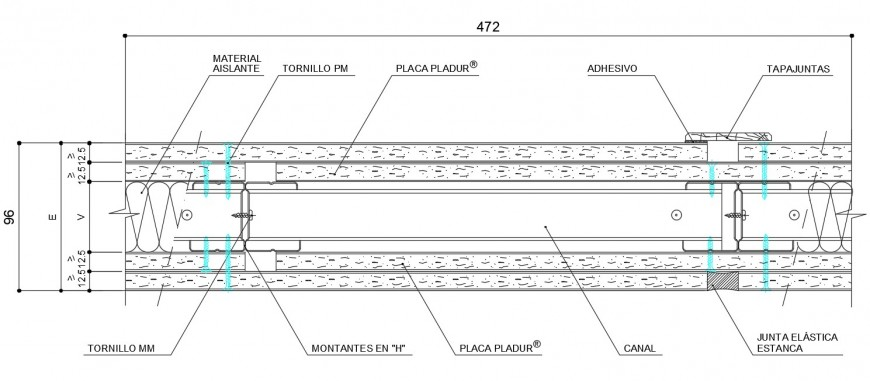 Simple wood door frame structure cad drawing details dwg file