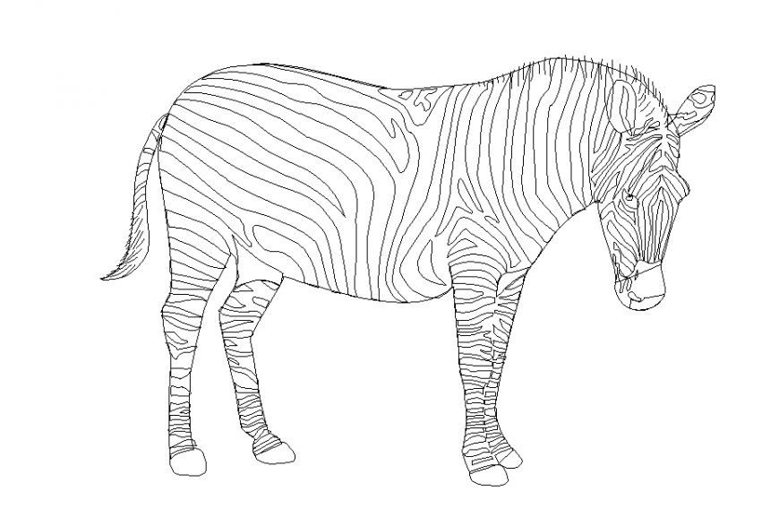 Simple Zebra Animal Block design