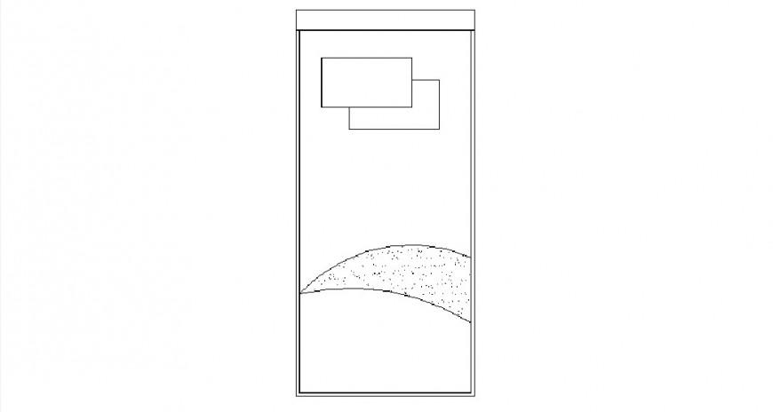 Single bed elevation cad drawing details dwg file