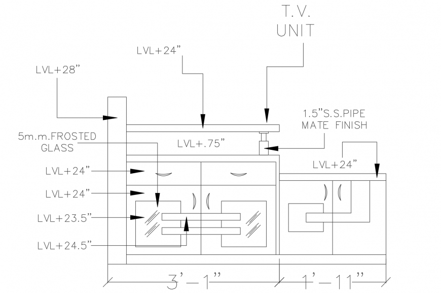 Single ceiling plan structure cad drawing details dwg file