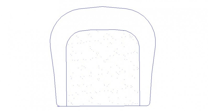Single chair top view elevation 2d block cad drawing details dwg file