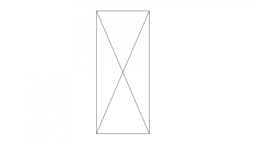 Single common door elevation block cad drawing details dwg file