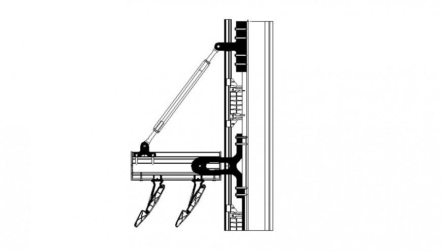 Single door coupling cad drawing details pdf file
