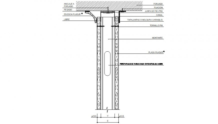 Single door frame structure cad drawing details dwg file