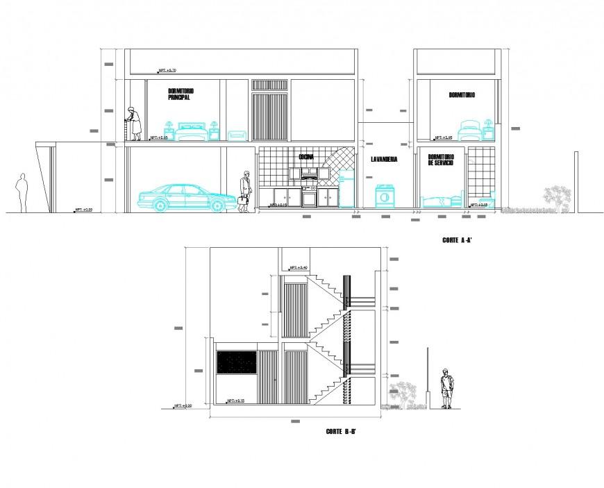 Single family 2 storey layout plan