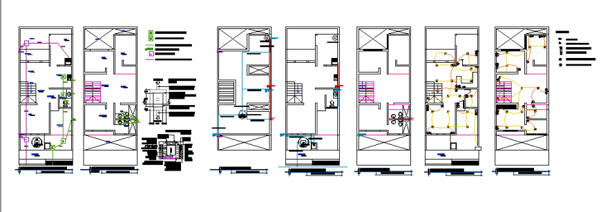 Single family home design architectural Electrical & hydraulic design drawing
