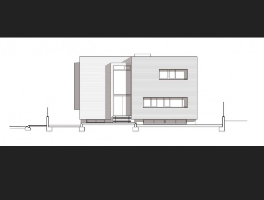 Single family house 3d model auto-cad drawing details skp file