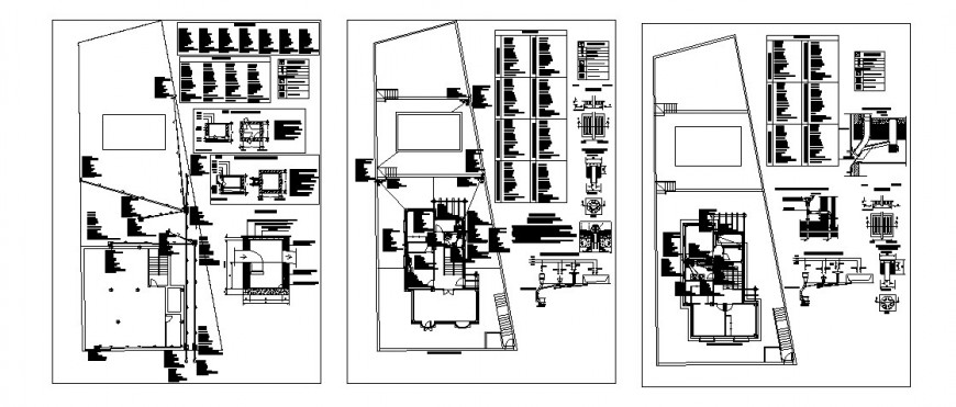 Single family house detailed architecture project in auto-cad format dwg file