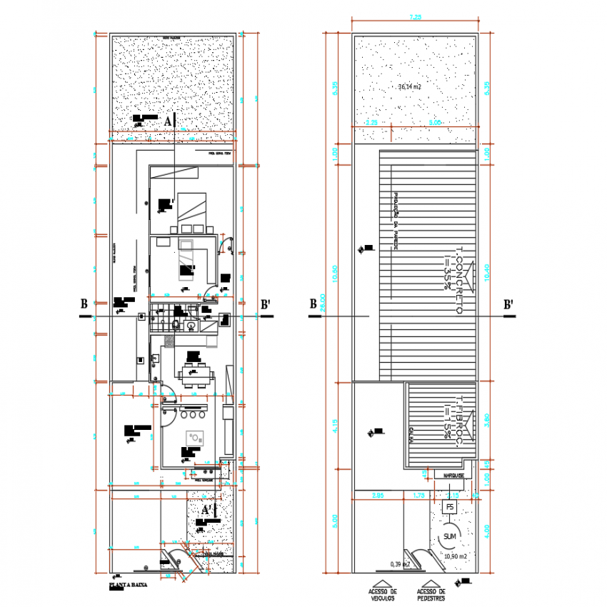 Single family house floor plan layout details dwg file