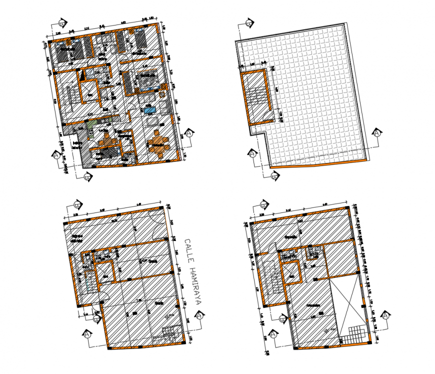 Single family house layout plan and cover plan cad drawing details dwg file