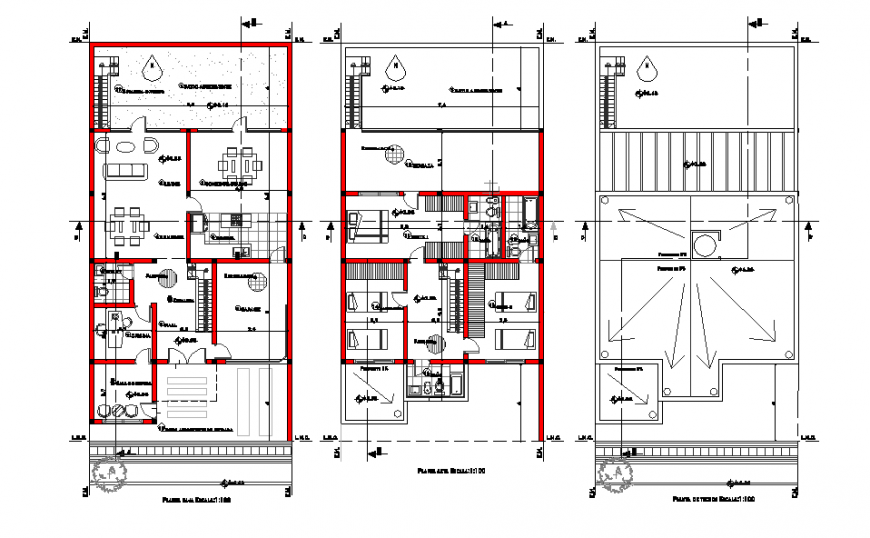 Single Family House Plan Lay-out design