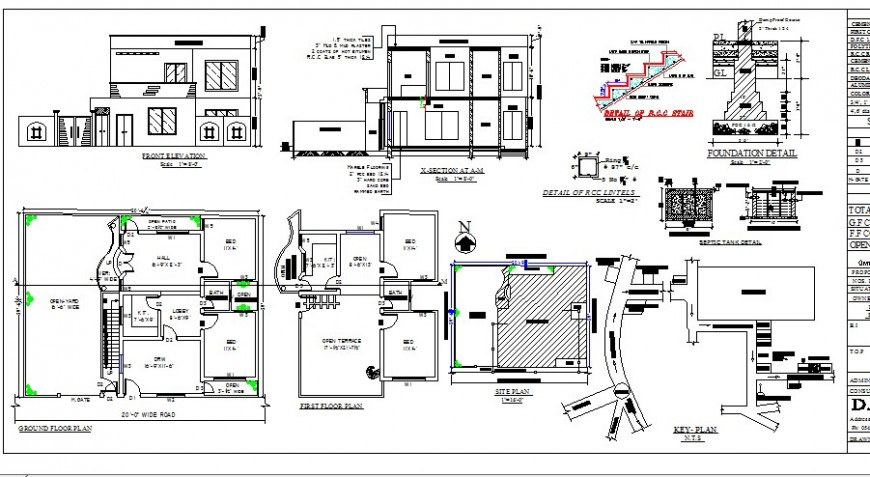 Single family house with structure detailed architecture project dwg file