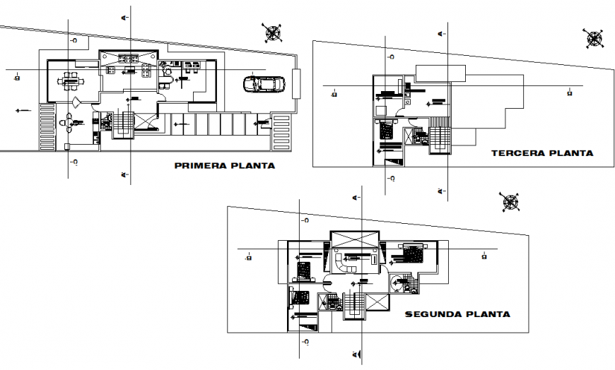 Single family housing working detail drawing in dwg file.