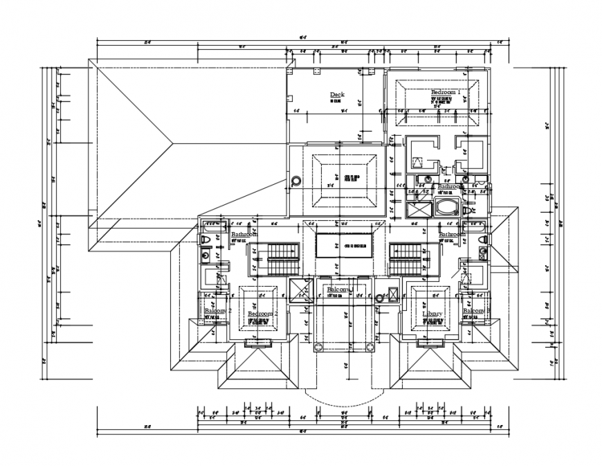 Single level house ground floor plan layout details dwg file