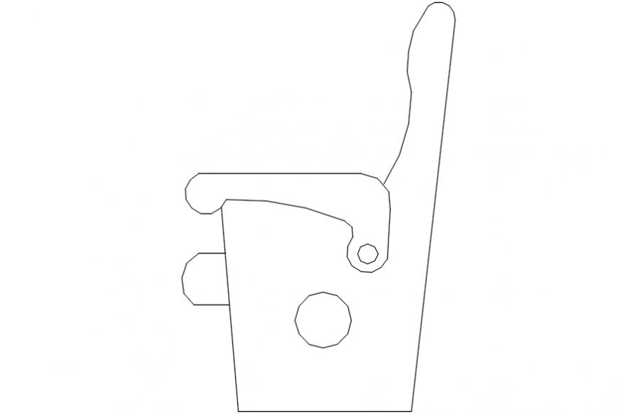 single seater cinema seat dwg file