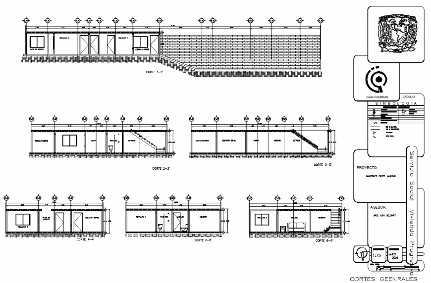 Single storey house section detail in dwg file.