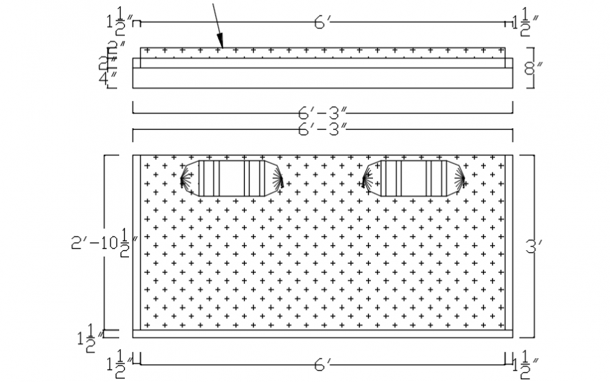 Single urban bed elevation block with cushions drawing details dwg file