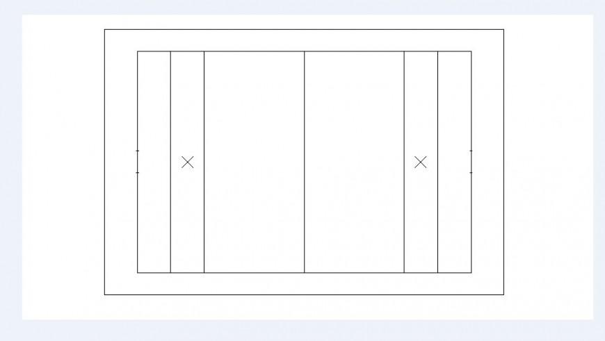 Single wooden window 2d elevation block details dwg file