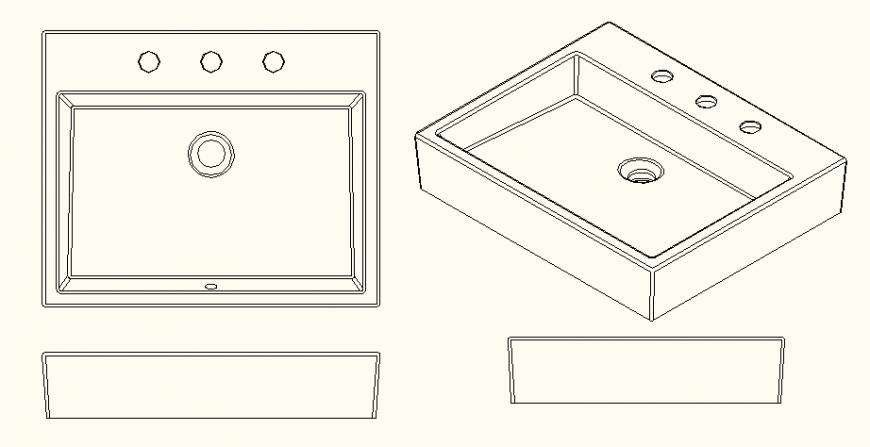 Sink Design detail layout file