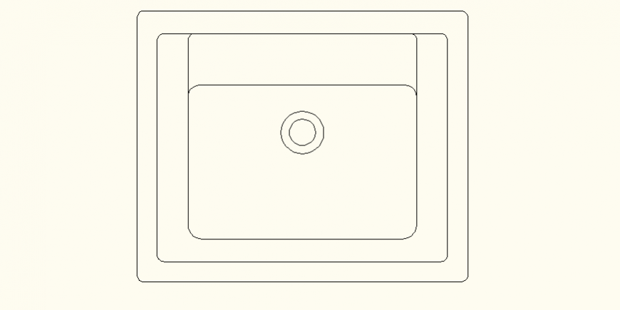 Sink detail elevation and plan dwg file