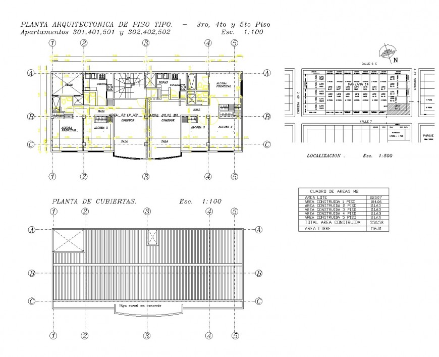 Site location and house planning autocad file