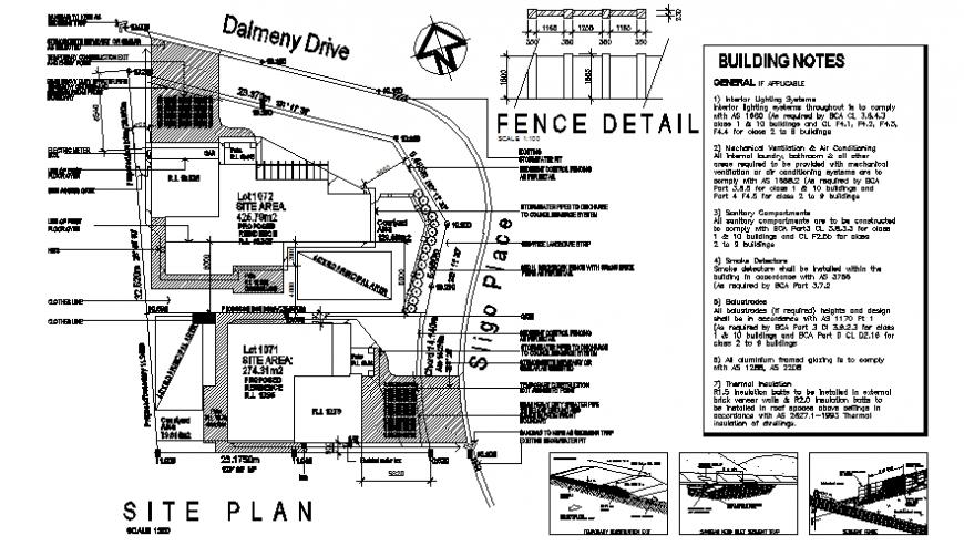 Site location dalmeny plan autocad file