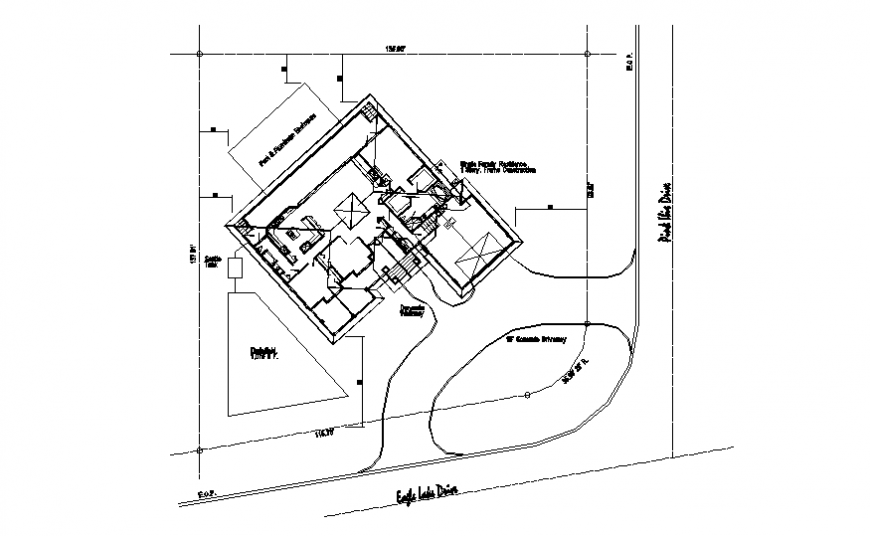 Site location house plan detail layout file