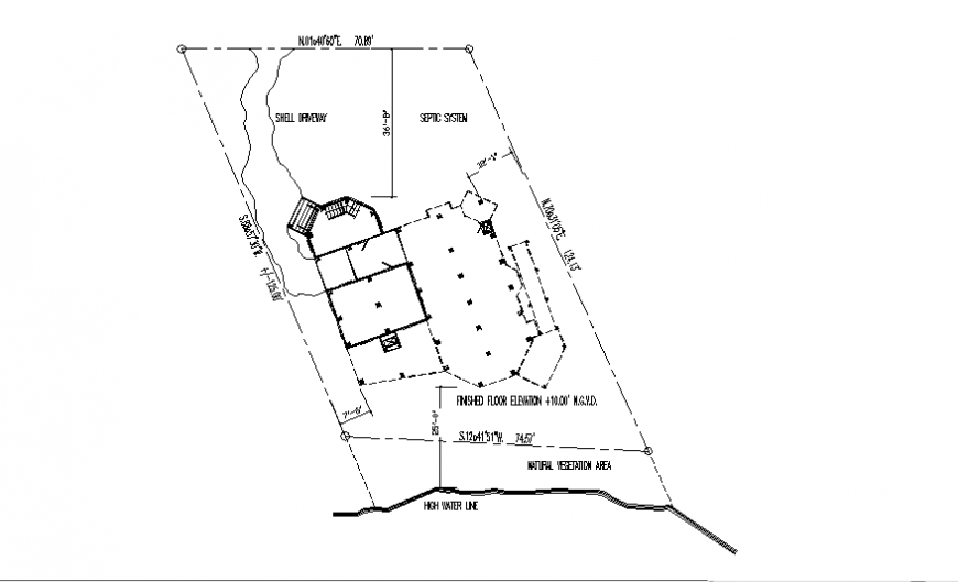 Site plan details of house cad drawing details dwg file