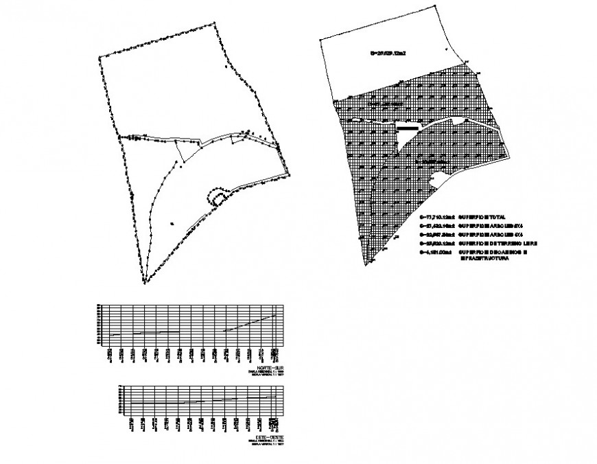 Site plan of an area detail 2d view layout plan in dwg file