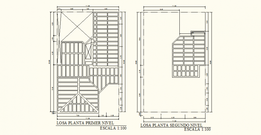 Slab detail drawing of the bungalow in dwg AutoCAD file.