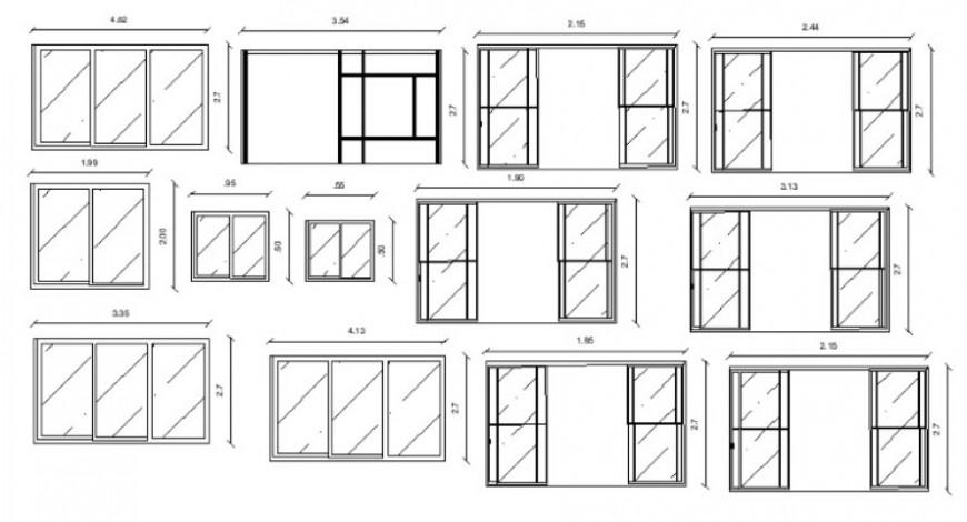 Sliding door details 2d view CAD elevation blocks dwg file