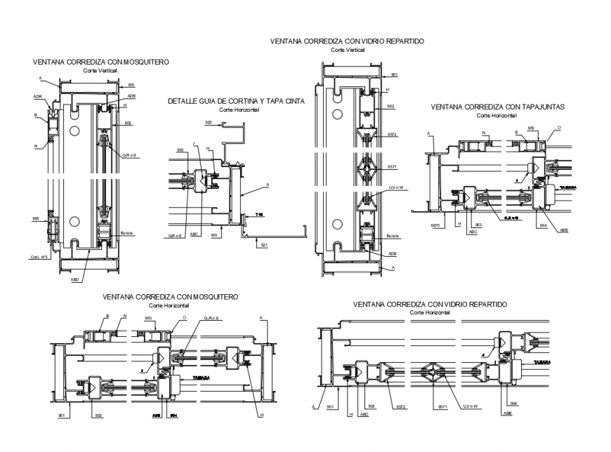 Sliding window installation cad drawing details dwg file