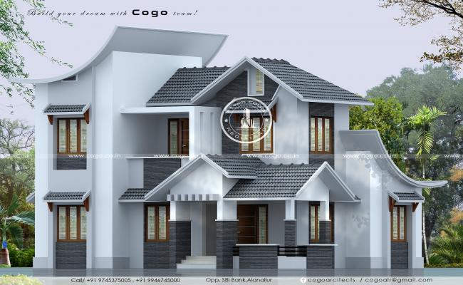 slope roof home 3ds max