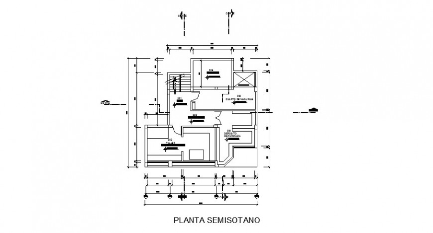 Small clinic ground floor layout plan cad drawing details dwg file