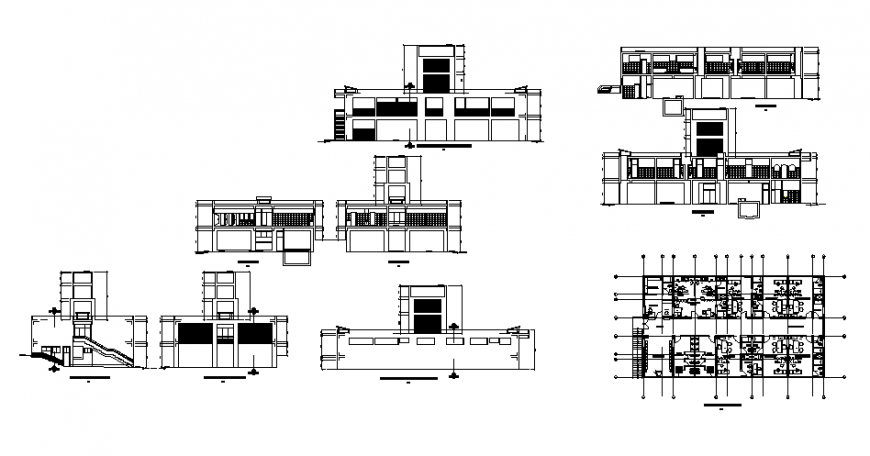 Small clinic working drawing in dwg file.