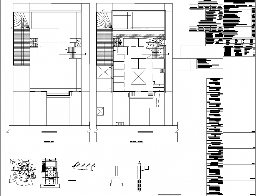 Small commercial building plan view in dwg file.