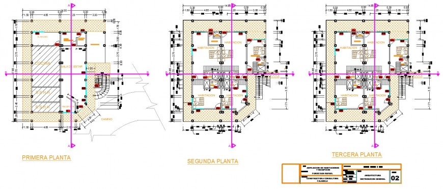 Small hotel floor layout plan detail drawing in dwg AutoCAD file.