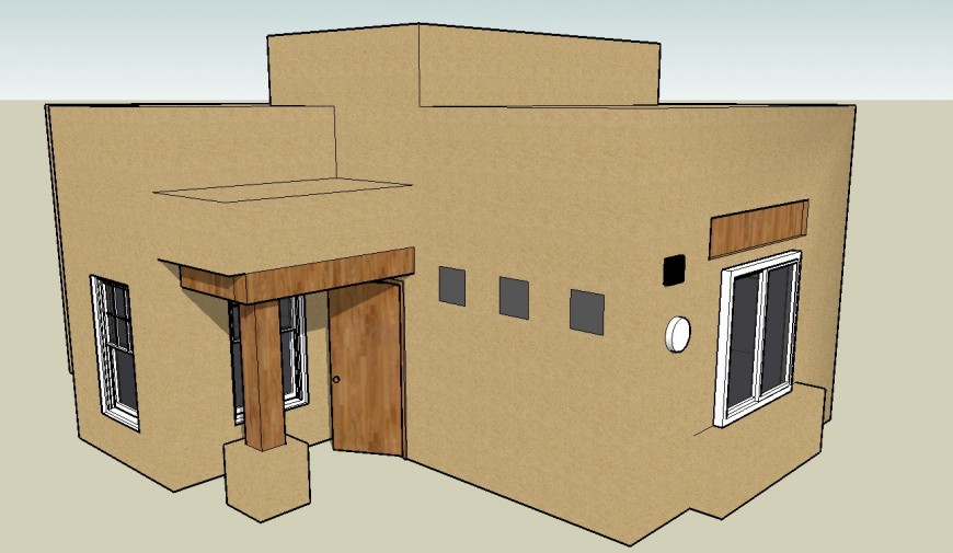 Small house 3d detailing file