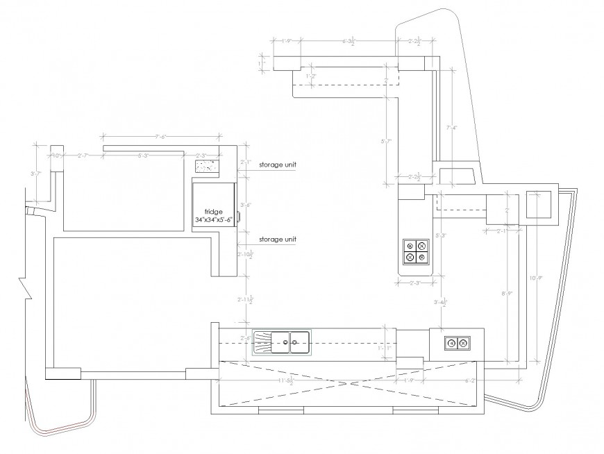 Small house planning AutoCAD file