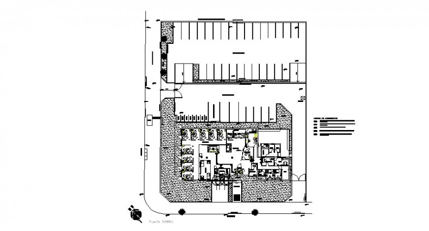 Small office architecture distribution plan cad drawing details dwg file